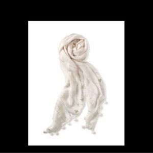 Stella and Dot cream scarf